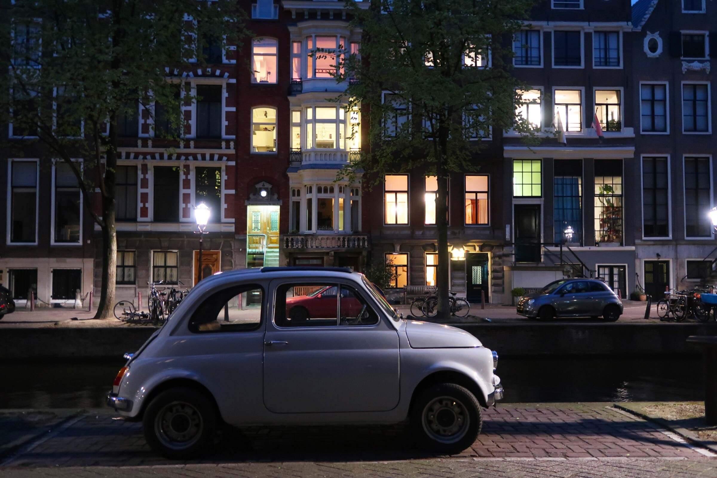Une jolie petite Cinquecento à Amsterdam