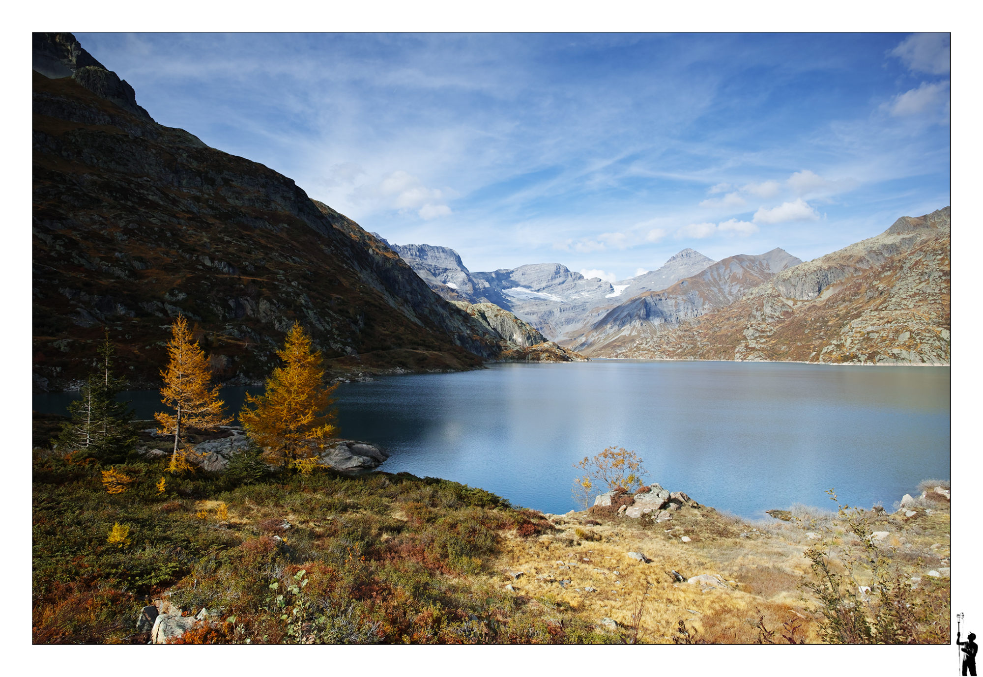 Lac d'Emosson en automne