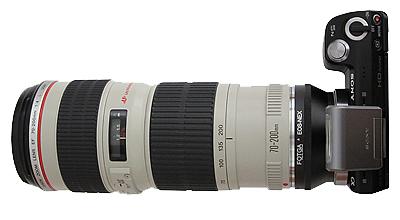 Nex-5n et 70-200F4 Canon