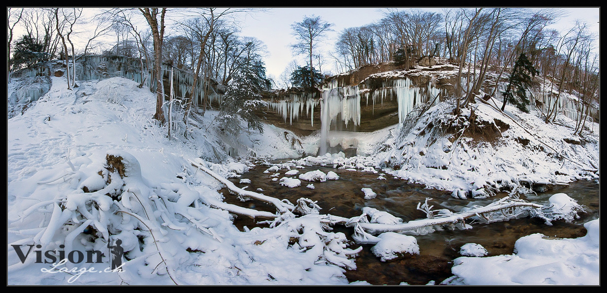 cascade du Dard par grand froid