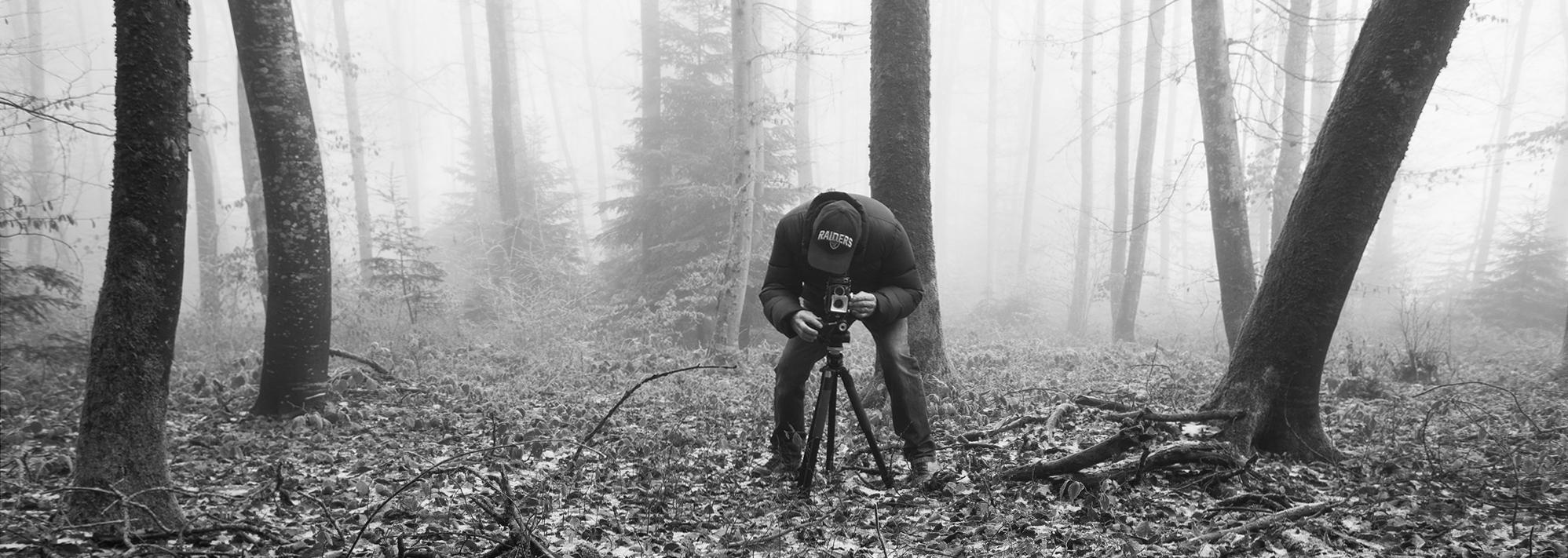 Moi dans la brume près de Belmont en Suisse